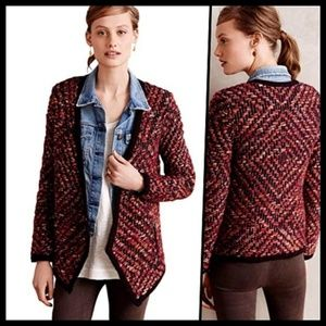 Moth Keavy Jacquard Sweater Jacket XS